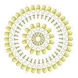 YFaith 50 Piezas Ganchos de Marco de Foto Kit, Triángulo Anilla con Gancho, Marco de Fotos de...
