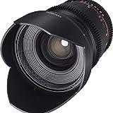 Samyang F1322701101 - Objetivo para vídeo VDSLR para Canon EF (Distancia Focal Fija 16mm, Apertura...