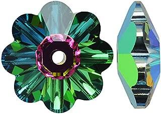 SWAROVSKI Crystal, 3700 Flower Margarita Beads 6mm, 12 Pieces, Vitrail Medium