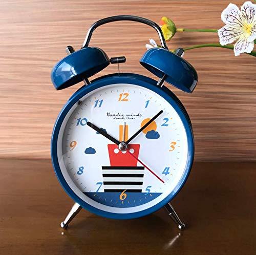Reisewecker Metall Mechanische Glocke Wecker Snooze Student Kinder Schlafzimmer Faul Bedside Sound...