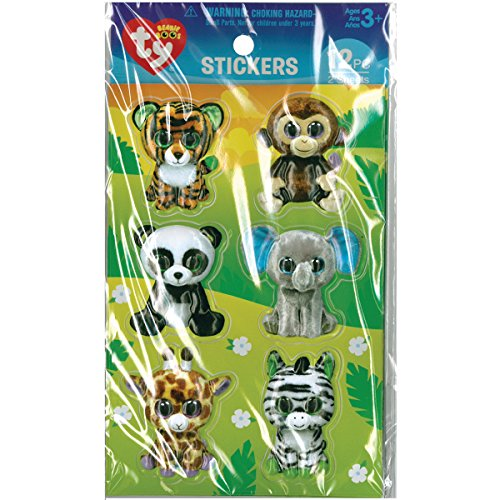 Darice Jungle Beanie Boos Stickers (12 Pack)