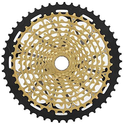 Tbest Bike Cassette, ZTTO Bicycle Freewheel Cassette Sprocket 12Speed 9-50T Ultralight Hollow Bike Golden Flywheel Mountain Bicycle Accessory