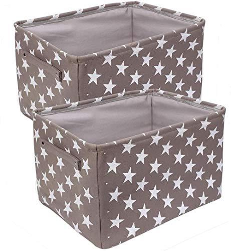 Caja De Almacenamiento De Lona De 2 Piezas Con Asa, Canasta De Almacenamiento De Tela Plegable, Bolsa De Almacenamiento De Armario