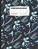 Dinosaur Fossil Composition Notebook: College Ruled Composition Notebook for Boys, 9.75 in x 7.5 in, For School, Notes, Journaling