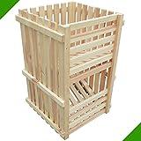 80 x 50 x 50 cm Kartoffelkiste Obstkiste Lebensmittelkiste Kiste aus Holz Holzkiste für Bälle Früchte Obst Futtermittel Unbehandelt Aufbewahrungskiste Allzweckkiste Lagerkiste