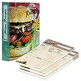 PRICARO Archivador de recetas (A5), diseño de hamburguesas