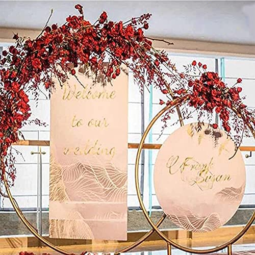 Cercle de plein air Fête de mariage Arch Party Mariage de toile de toile de toile de toile de toile d'arc rond décoration d'arche de fleur Pergola pour la fête de fête d'anniversaire ( Color : White )