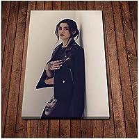 貴族の女性のポスタープリント壁アート写真リビングルームモダンキャンバスアート-60x80cmフレームなし