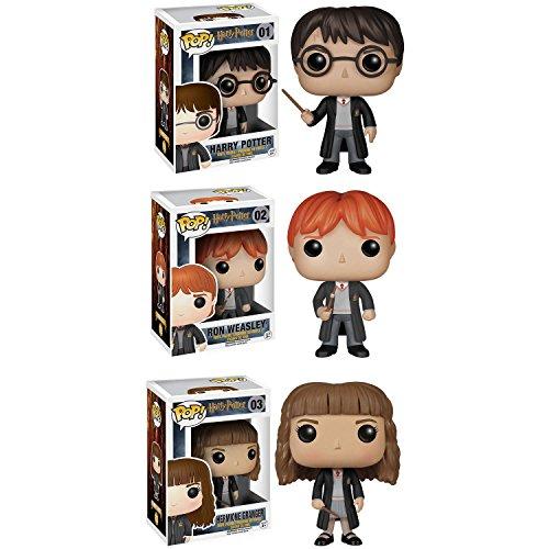Funko Harry Potter POP! Movie Vinyl Collectors Set: Harry Potter, Ron Weasley & Hermione Action Figure by FunKo