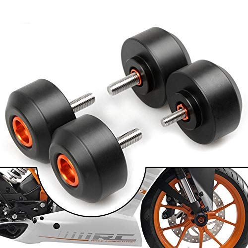 Coolsheep Motorcycle Front & Rear Fork Wheel Crash Protector Frame Slider for RC 125 200 390