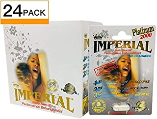 Imperial Platinum 2000 Sexual Performance Enhancement Pill + Keychain Capsule Holder (Imperial Zen - 24 Pack)