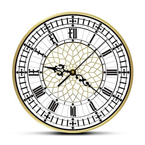 bbmmww Big Ben Clock hedendaagse moderne wandklok Retro Silent Non Ticking Wandklok Engelse Home Decor Groot-Brittannië Londen geschenk
