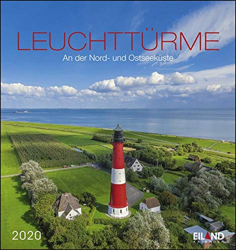 Leuchttürme: An der Nord- und Ostseeküste. Wandkalender 2020. Monatskalendarium. Spiralbindung. Format 16 x 17 cm