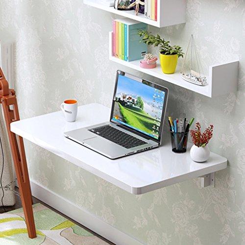 LBYMYB Mesa de comedor plegable de pared, mesa de comedor con hojas de gota para ordenador, estación de trabajo para el hogar, escritorio blanco, mesa plegable (tamaño: 110 x 40 cm)