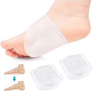 Almohadillas de gel para calzado con soporte de arco, para fascitis plantar, pies planos, arcos altos o caídos. Almohadillas para aliviar el dolor de pies y talones (transparentes)