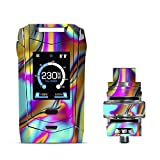 IT'S A SKIN Decal Vinyl Wrap for Smok Species 230W TFV8 Baby V2 Vape Sticker Sleeve Cover/Oil Slick Resin Iridium Glass Colors