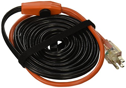 Frost King HC24A Automatic Electric Heat Kits, 24ft x 120V x 7 Watts/ft, 24 Feet, Black Heating Cables