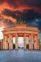 ベルリンドイツタウンスクエアコラムブランデンブルクゲートアダルトパズル子供1000ピース木製パズルゲームギフト家の装飾特別な旅行のお土産