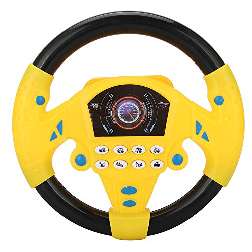 Yinuoday Volante de Juguete con Luces de Música Coches de Conducción Simulada para Niños Pequeños Juego de Simulación Portátil Volante de Adsorción de Juguete para Niños Niños Y Niñas