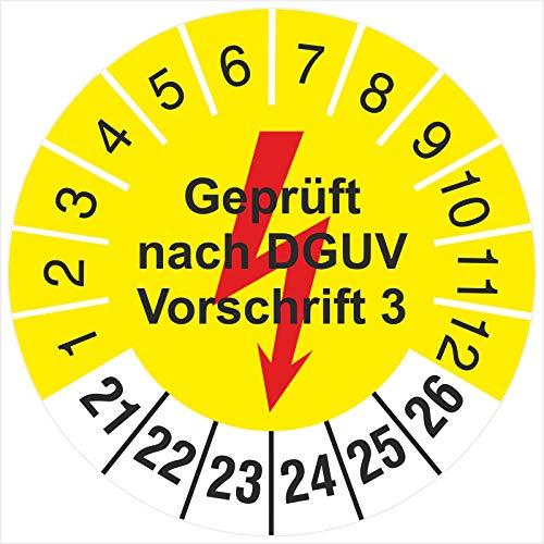 200 Stück Prüfplakette 30 mm nächste Elektro Prüfung Elektrotechnik 2021-2026 Prüfetiketten