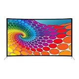XZZ TV LCD De 55 Pulgadas, HDR De Ultra Alta Definición 4K, Pantalla Curva Ultrafina, Se Puede Utilizar como Pantalla De Computadora, TV De Red Inteligente