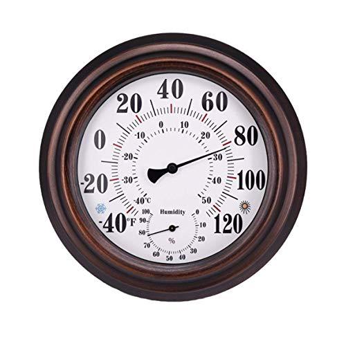 Pendant Elegant 20cm Wall Thermometer Metal Dial Hygrometer Humidity Temperature Measurement Meter Indoor Room Decor Accessory