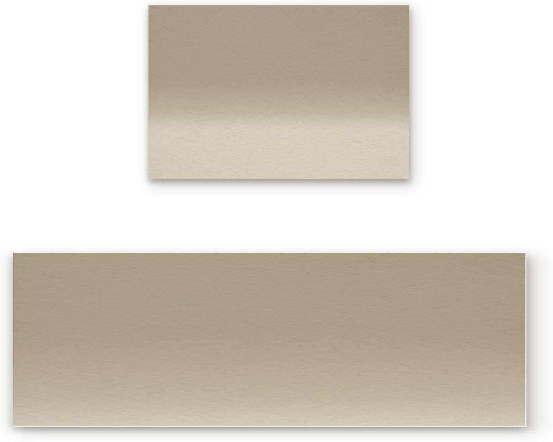 2 Piece Non-Slip Kitchen Mat Rubber Backing Doormat Runner Rug Set, Kids Area Rug Carpet Bedroom Rug Grunge Street Style Painting Brush Print Ombre Design Illustration, 19.7''x31.5''+19.7''x63''