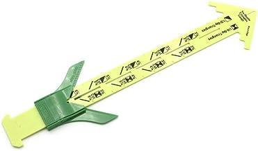 Qisen Meetinstrument, 5-in-1 schuifmaat Naaien meetgereedschap, T-vormige schuifmaat Naaien Meetaccessoires, Quiltliniaal ...