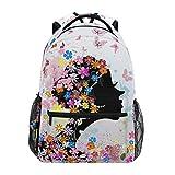 Mochila escolar hermosa niña flores primaria universidad mochila para niña niño mariposa pintura elegante 2010076