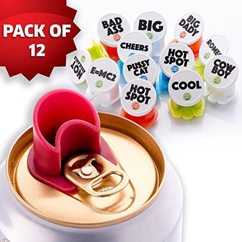 Canper es un nuevo tap/ón de latas reutilizable para el consumo higi/énico de bebidas enlatadas Pajita multiusos para latas de refresco Emoji 4 Pack
