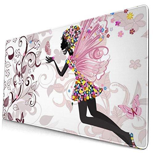 Mousepad Mouse Pad Große Spielmatte Fairy Engle Schmetterling Musik Genius Pink XXL Erstellen Sie Anime Computer Teppich Extra Ergonomische Tischsets Riesige Metalldruckerei Home Game Zubehör