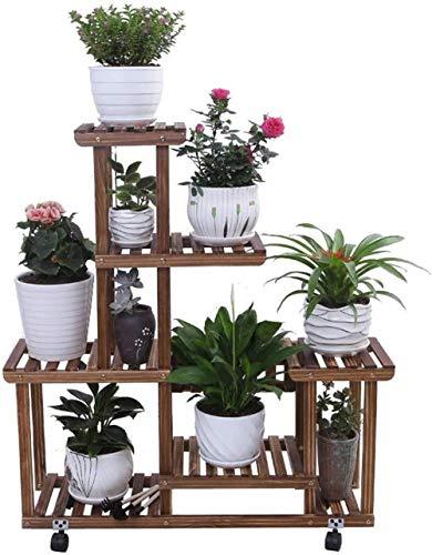 FENGRONG Massivholz Felgen Blume for Wohnzimmer Mit Balkon/Schwarz Carbon-Lack Regal Geeignet Stehen (Color : 2#, Size : 85 * 25 * 101cm)