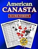 American Canasta Score Sheets: 130 Large Score Pads for Scorekeeping - American Canasta Score Cards - American Canasta Score Pads with Size 8.5 x 11 inches