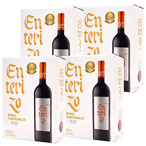 【金賞受賞 スペイン秀逸蔵】ボックスワイン 赤ワイン 辛口 3000ml×4箱 エンテリソ ティント バッグ イン ボックス ボデガス コヴィニャス<a href=