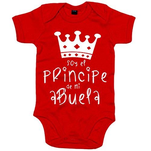 Body bebé Soy el principe de mi abuela - Rojo, 12-18 meses