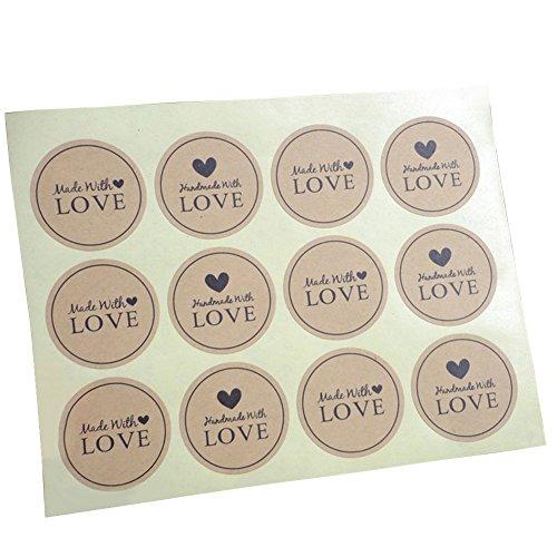 Originaltree 120PCS Love Craft Paper tenuta adesivi bomboniere Letter Gift etichette Multi