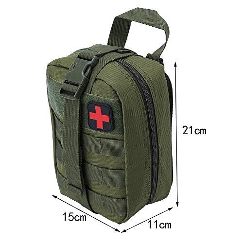 Outdoor Erste-Hilfe-Tasche Notfalltasche Medzinische Hilfe für Outdoor Aktivitäten wie Camping Radfahren Klettern Wandern ( Farbe : Grün ) - 4