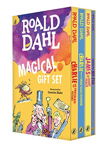 BOXED-ROALD DAHL MAGICAL GI 4V: Charlie and the Chocolate Factory, James and the Giant Peach, Fantastic Mr. Fox, Charlie and the Great Glass Elevator