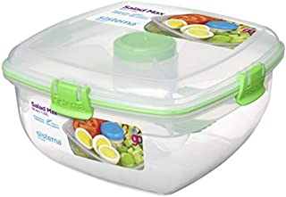 comprar comparacion Sistema To Go - Lonchera, 3 plazas, plástico, transparente, 1.63 litros, colores surtidos