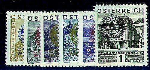 Goldhahn  erreich Nr. 518-523  Rotary-Club Briefürken für Sammler