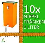 agrarking.de 10x Kaninchentränke 1 Liter Hamster Wasserspender - Metall Aufhängung