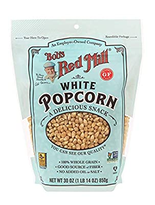 Bob's Red Mill Resealable Whole White Popcorn, 30 Ounce (Pack of 2)