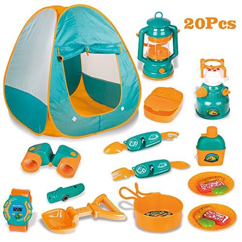 LBLA Tienda de Campaña Infantil Conjunto para Niños Juegos para Cocina Accesorios Actividad Recreativa Interior y Exterior Juguete