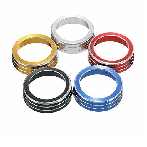 NICOLIE 2 Piezas A/C Interruptor De Control De Aluminio Cubierta De Perilla De Anillo De Encendido Compatible con Honda Civic 16-17 - Oro