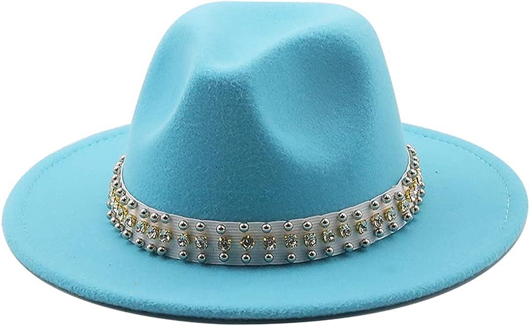 Elegant Fedora Hat At the price for Women Men Ribbon Clas Mesa Mall Brim Wide Belt Band