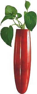 Maya Organic Wood Handcrafted Magnetic Fridge Vase - Red, 17 cm X 4 cm X 4 cm