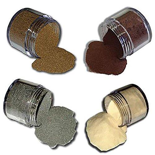 Embossing-Puder - Set aus 4 Farben (gold, silber, kupfer, transparent)