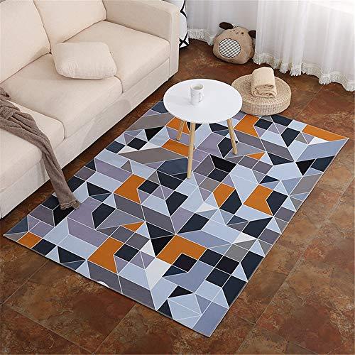 misshxh tapijt, geometrisch ontwerp 1-3, antislip, waterdicht, zacht en wollig, geschikt voor woonkamer, slaapkamer, keuken, hal. 120x200cm