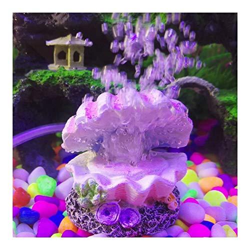 WTBHD Pearl Oyster Aquarium Fish Tank Toy Decoration Ornaments Oxygen Pump Bubble Stone Air Pump Driver (Color, Size : One Size)