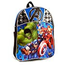 """Marvel Avengers 11"""" Mini Toddler Preschool Backpack Featuring Spiderman, Iron Man, Captain America and More"""